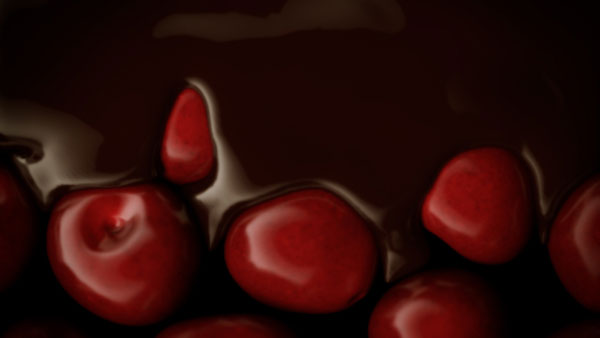 Cherry ripe 3D animation