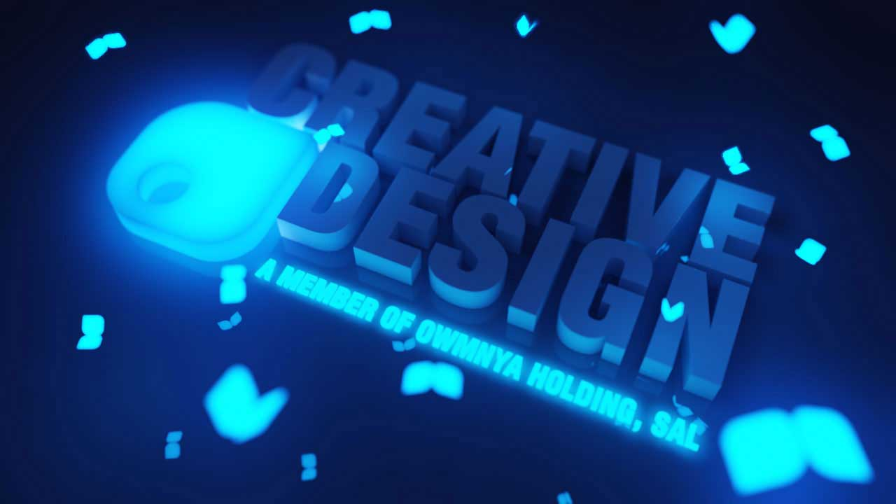 Creative design 3D logo animation