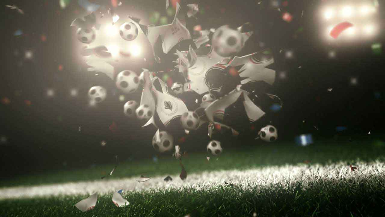 Free kick 3D motion graphics