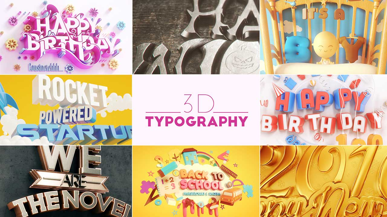 3D Typography collection