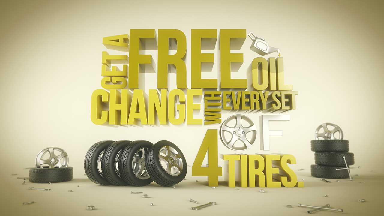 Free oil change Advertising
