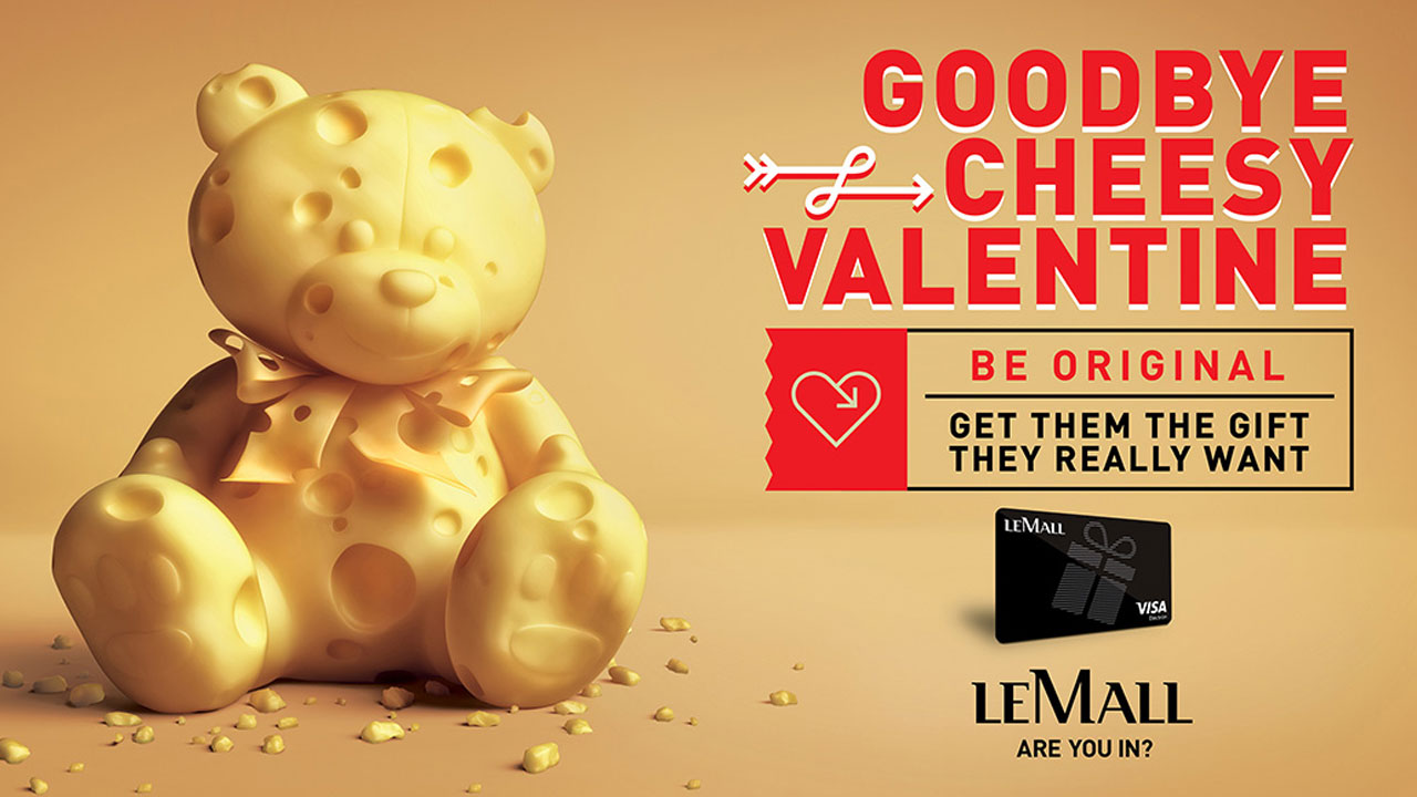 LeMall Gift Card Valentine 3D visualization